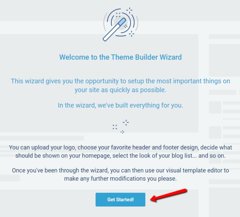 Thrive Theme page builder wizard