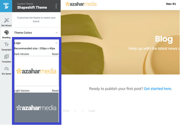 Thrive Theme page builder branding