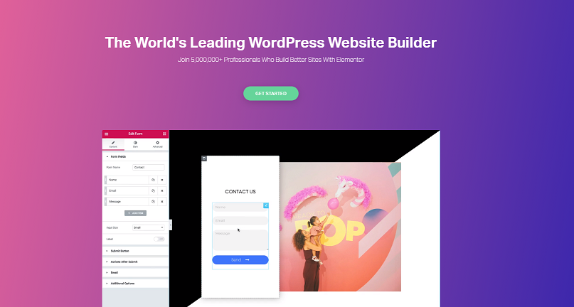 Elementor free WordPress page builder