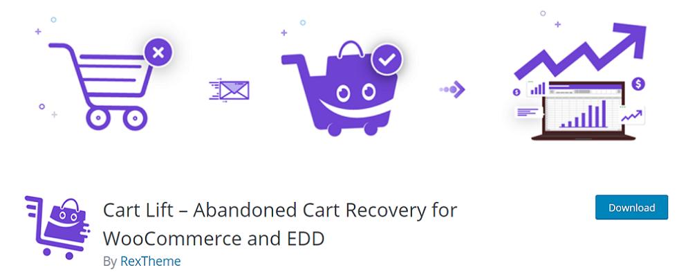 Cart Lift plugin cart abandonment