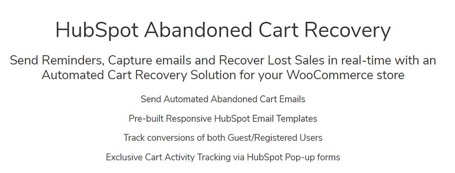 hubspot for cart abandonment