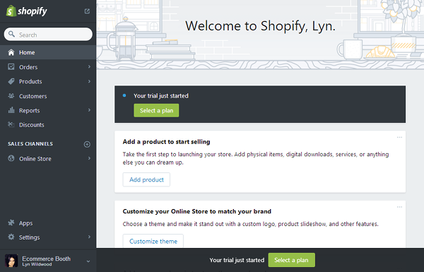 Shopify - User Interface