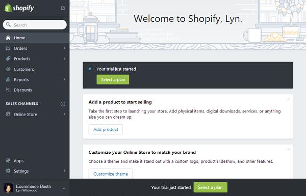 Shopify - User Interface