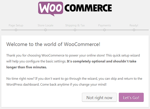 WooCommerce - Easy Setup