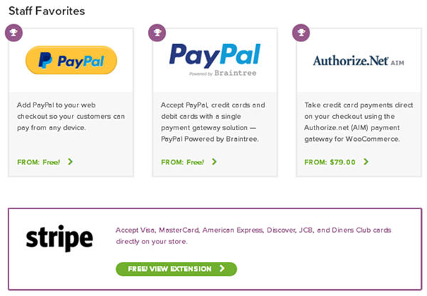WooCommerce - Payment Gateways