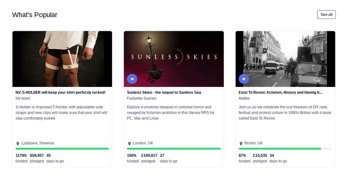 Kickstarter - Crowdfunding Platform