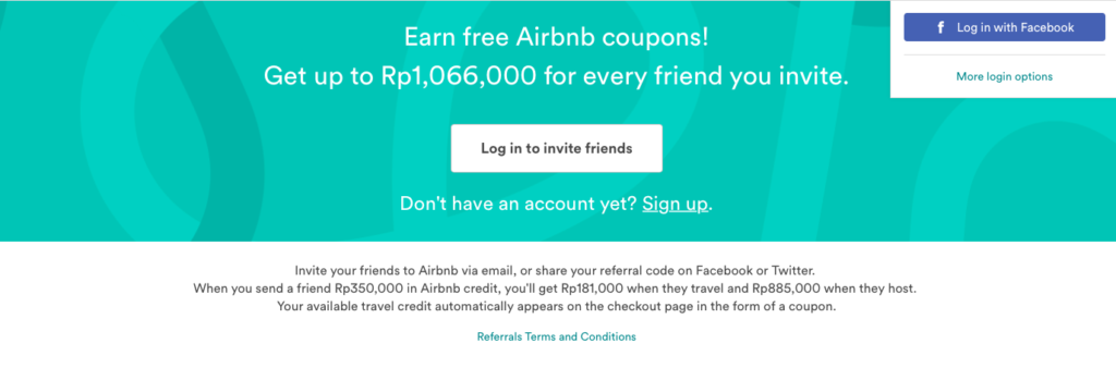 airbnb referral program