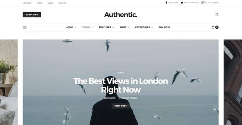 Authentic - Lifestyle Blog and Magazine WordPress Theme