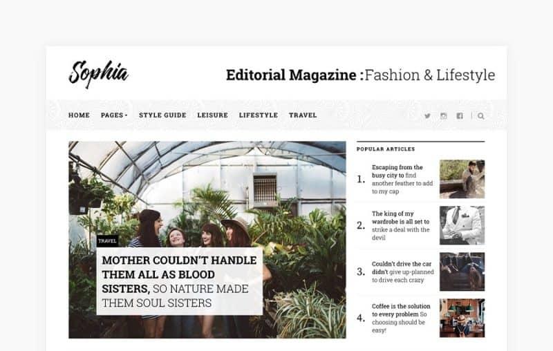 Sophia Magazine Theme
