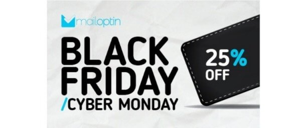 MailOptin's Black Friday Cyber Monday prices