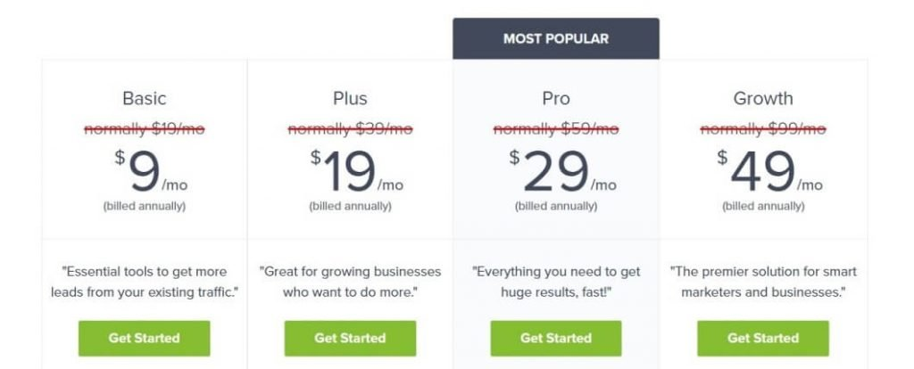OptinMonster's Black Friday Cyber Monday prices
