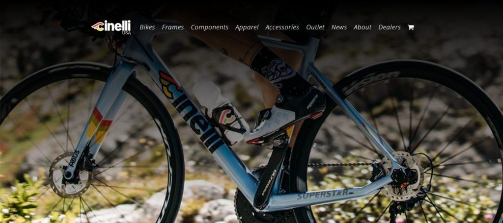 Cinelli ecommerce website design