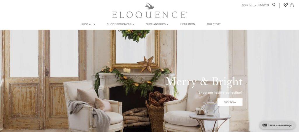 Eloquence ecommerce website design