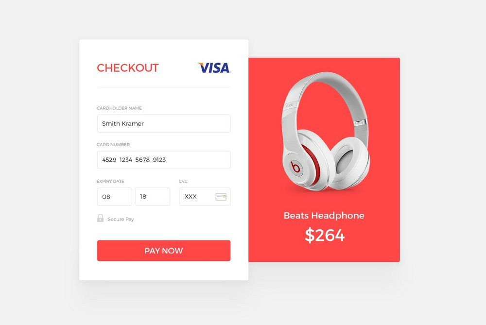 Electronic Store Checkout Page Concept