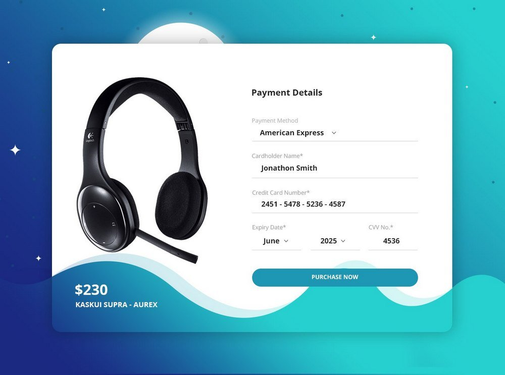 Single Product Checkout Page Concept
