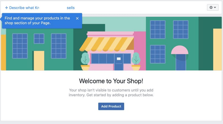 Facebook store add products
