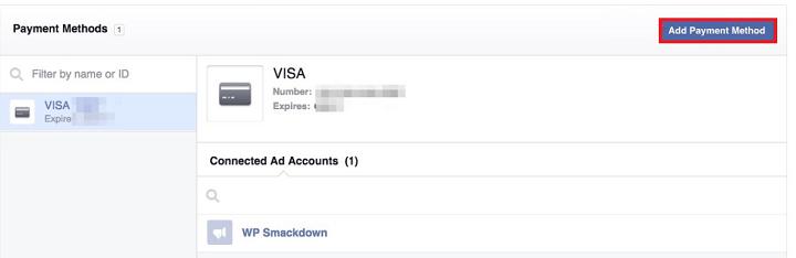 Facebook store payment methods