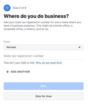 Facebook store where doyou do business