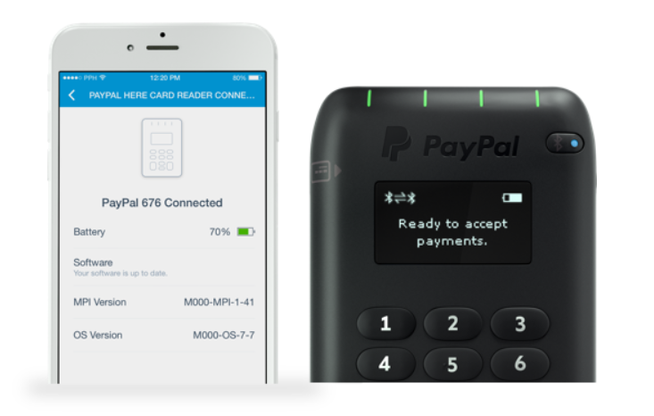 image of PayPal card reader