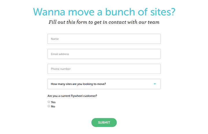 Website Migration Forms