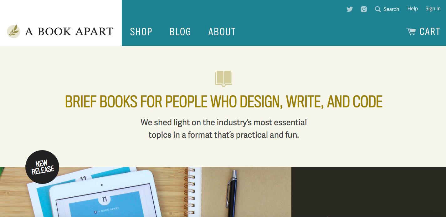 A Book Apart Shopify site