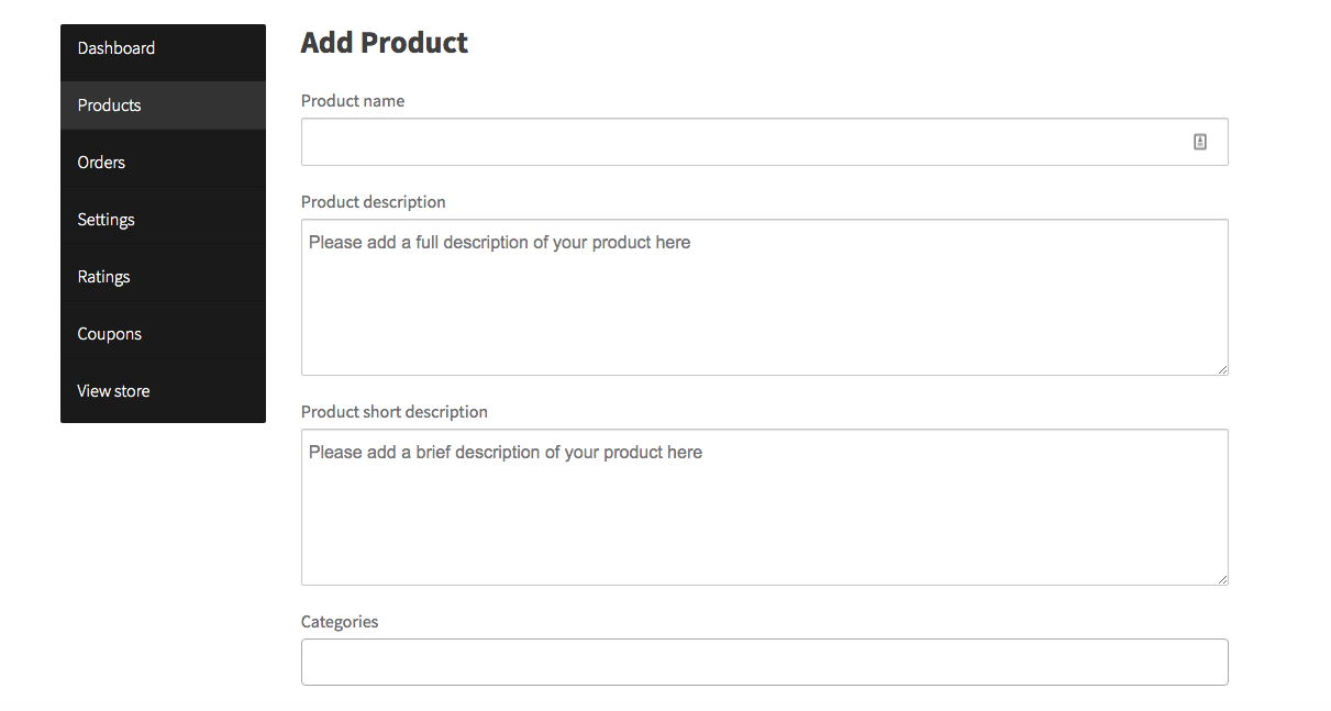 Adding products from the front-end