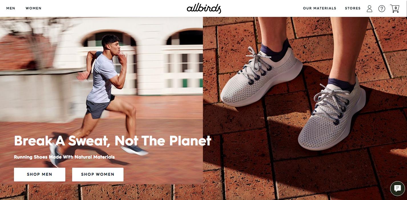 Allbirds Shopify site