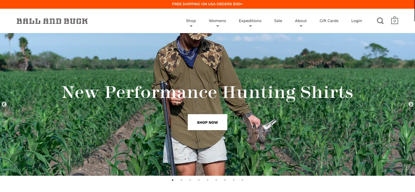Ball and Buck Shopify site