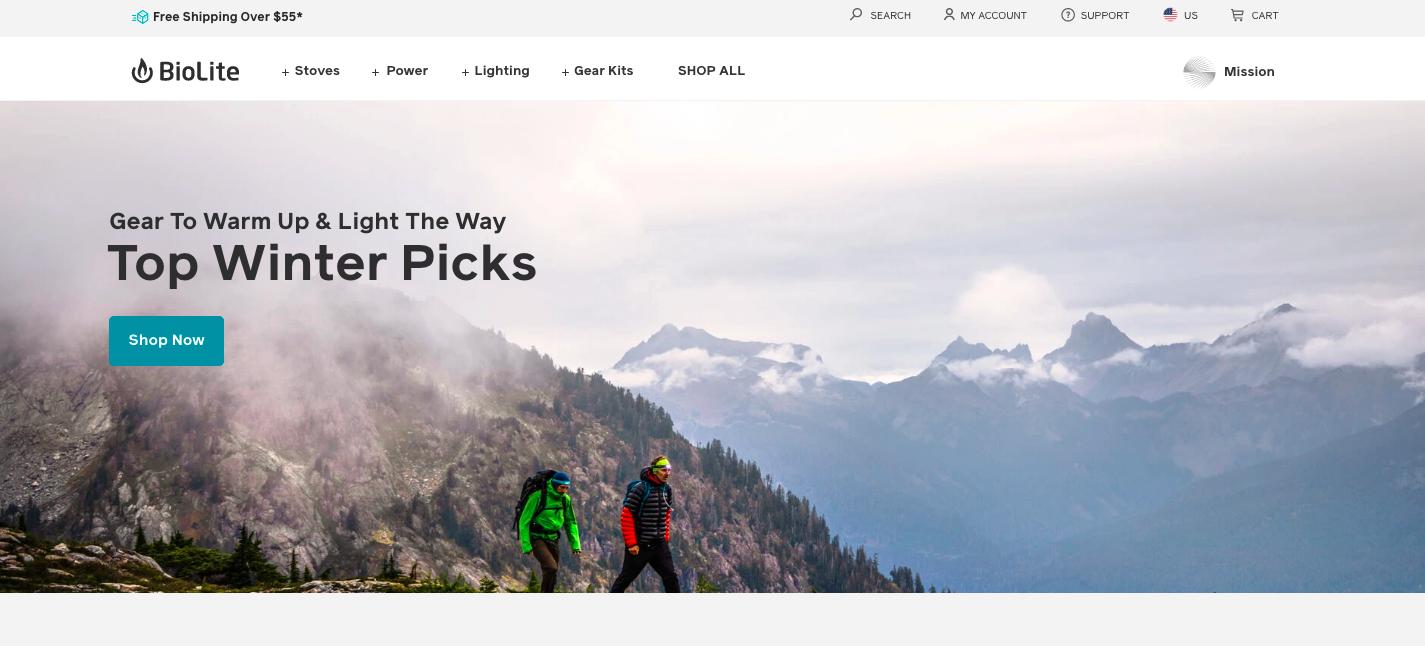 BioLite Shopify site