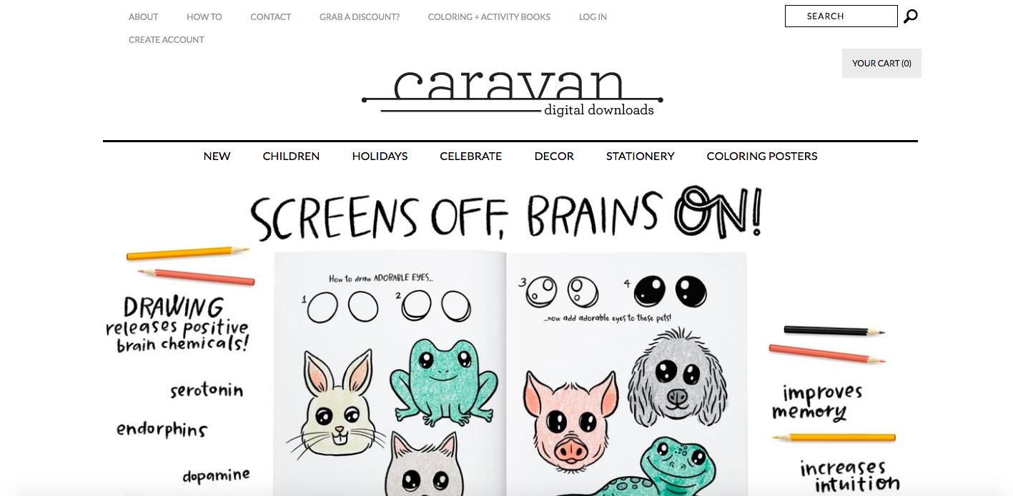 Caravan Shopify site