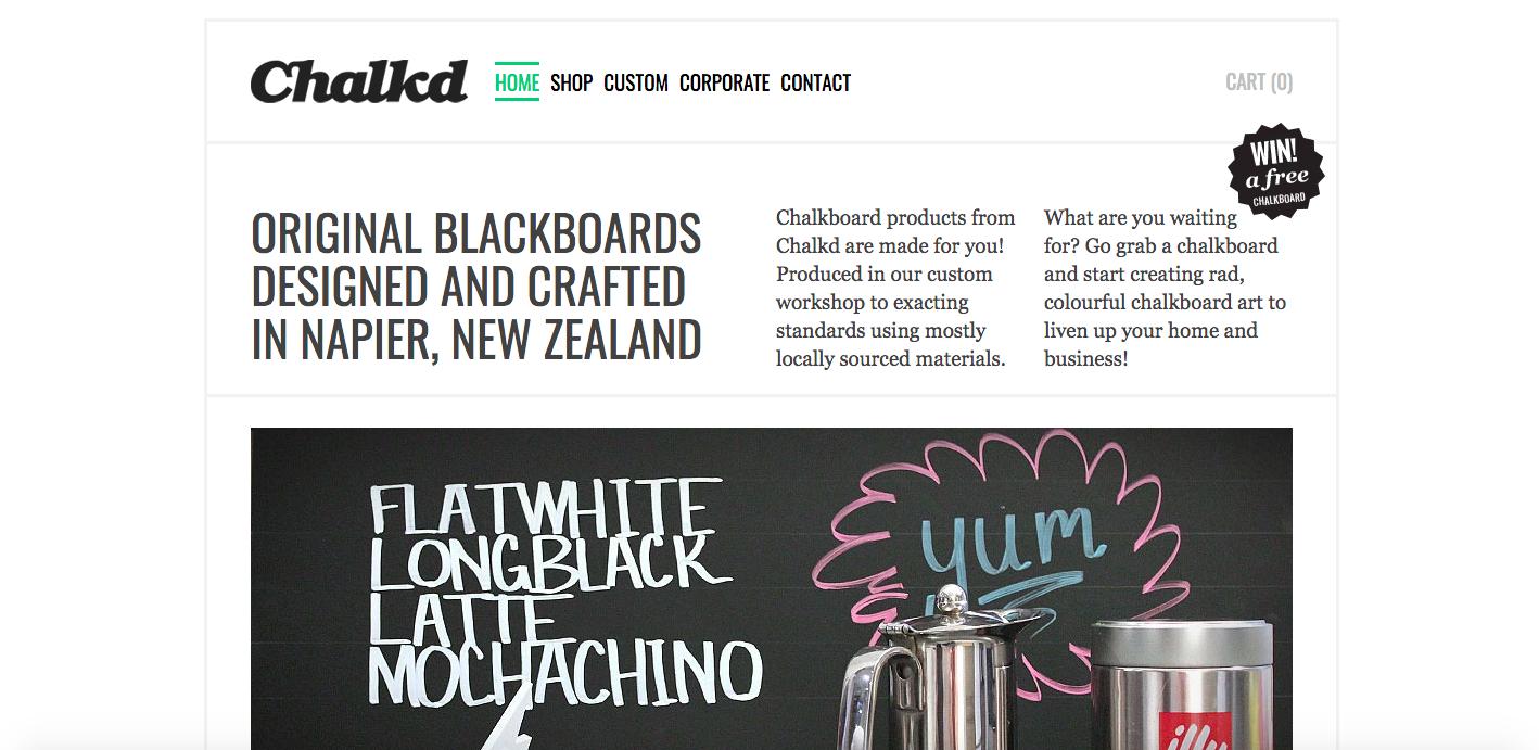Chalkd Shopify site