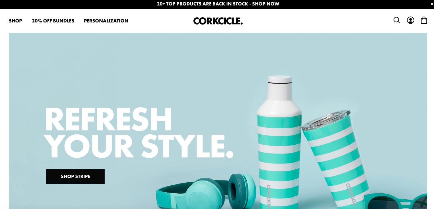 Corkcicle Shopify site