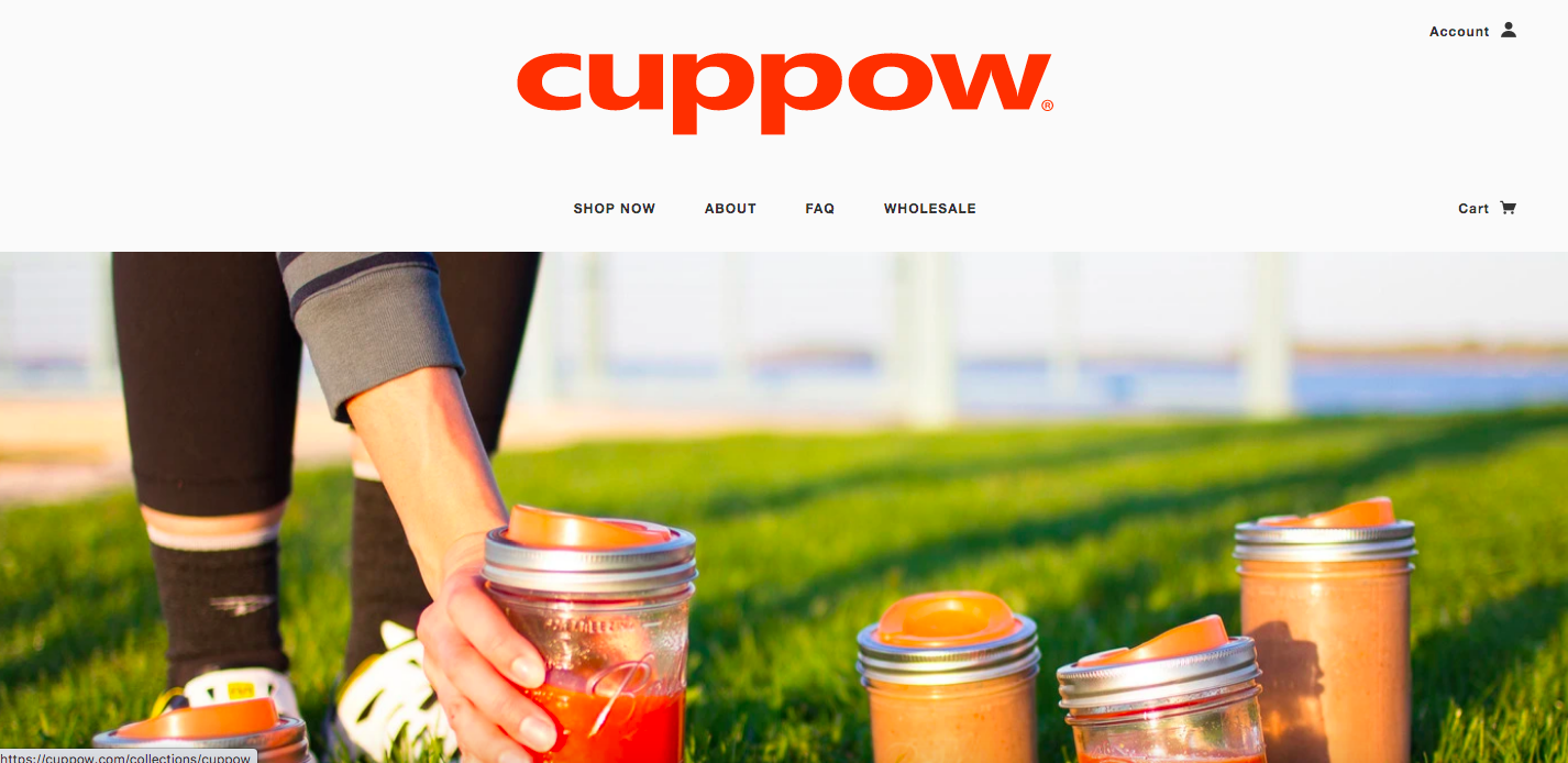 Cuppow Shopify site