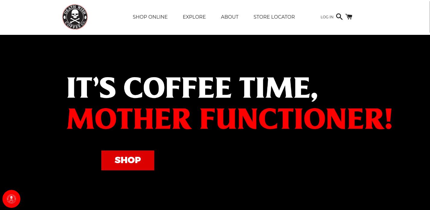 Death Wish Coffee Shopify site