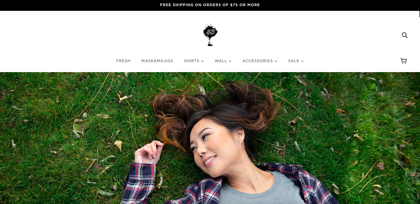Factory 43 Shopify site