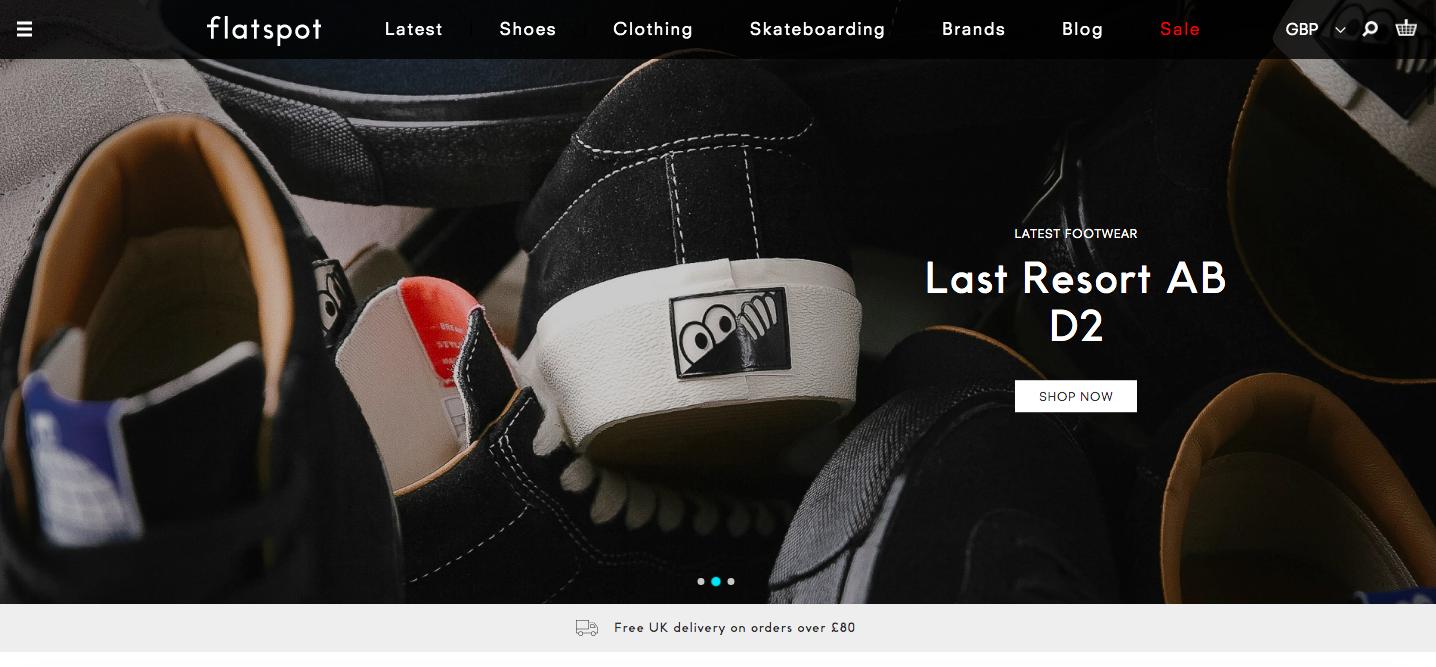 Flatspot Shopify site