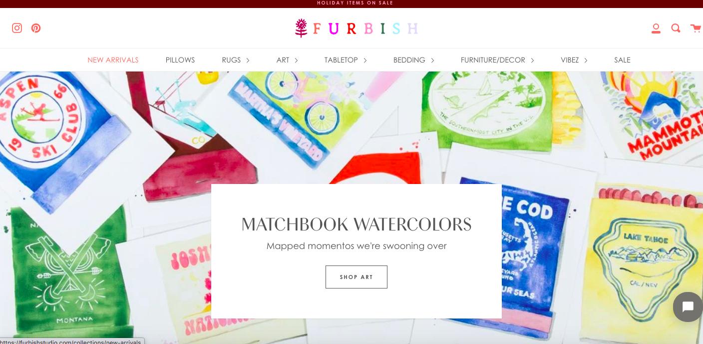 Furbish Shopify site