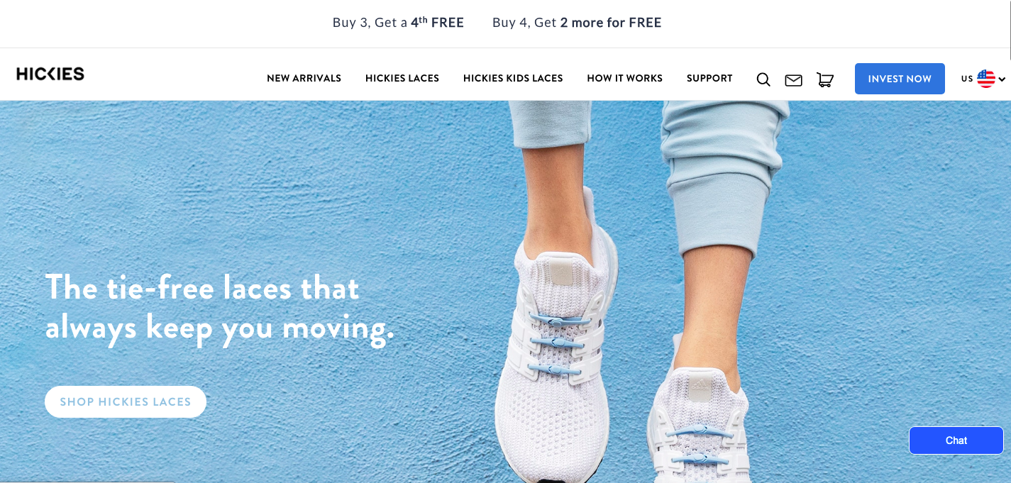 Hickies Shopify site