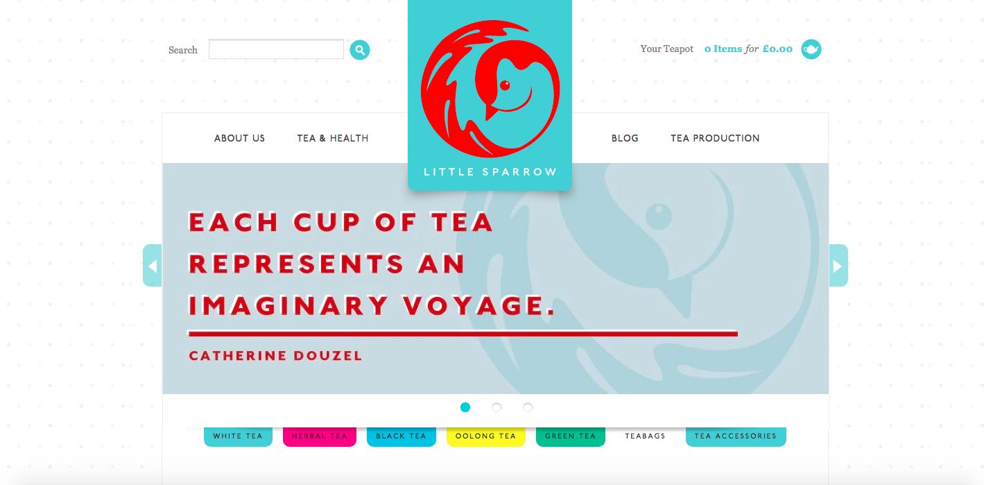 Little Sparrow Tea Shopify site