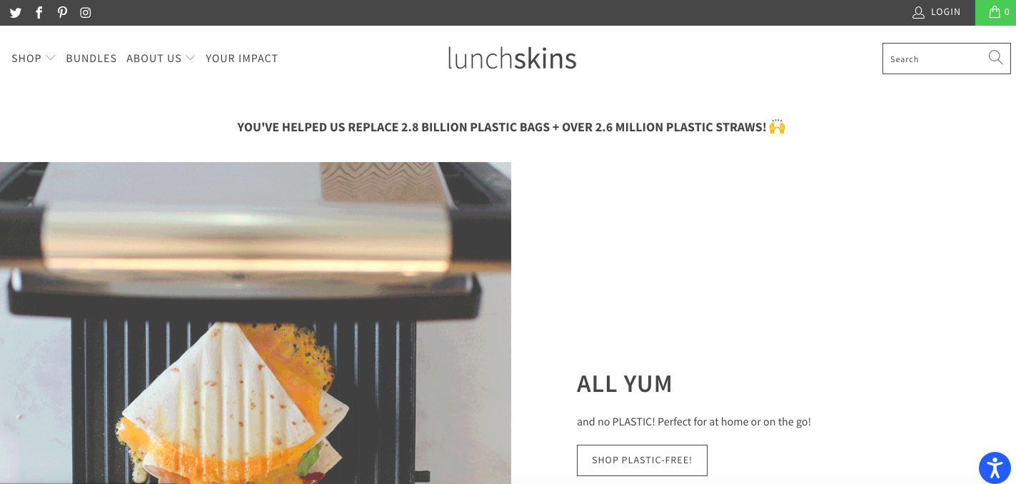 Lunchskins Shopify site