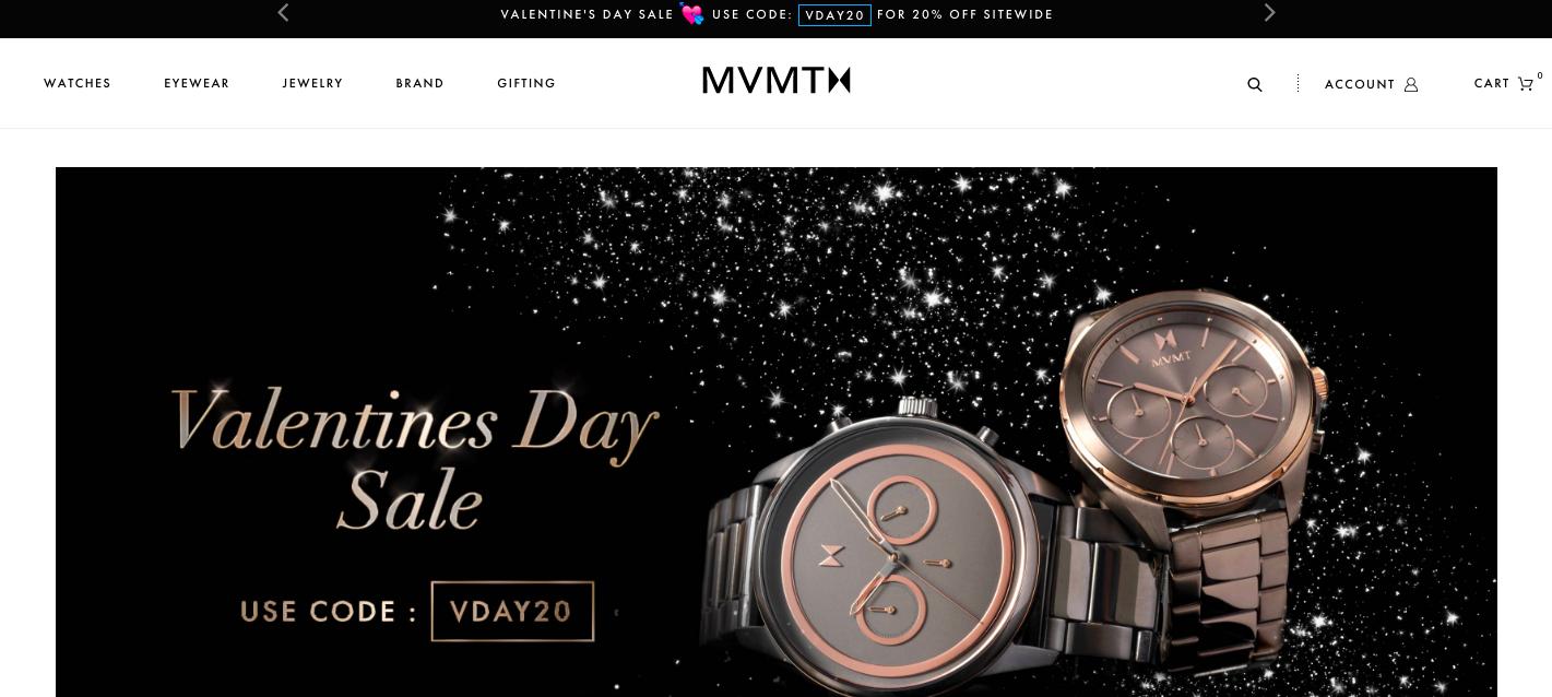 MVMT Shopify site