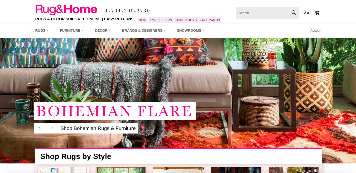 Rug & Home Shopify site