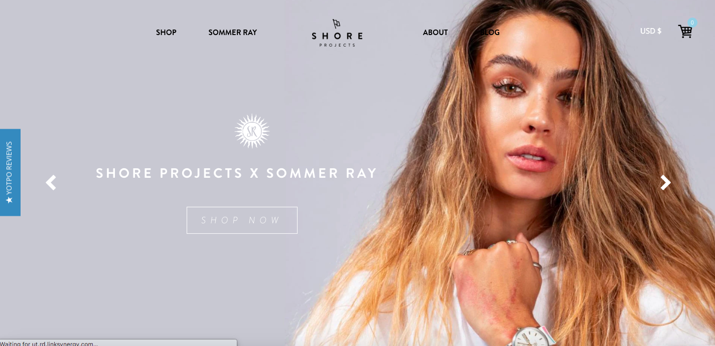Shore Projects Shopify site