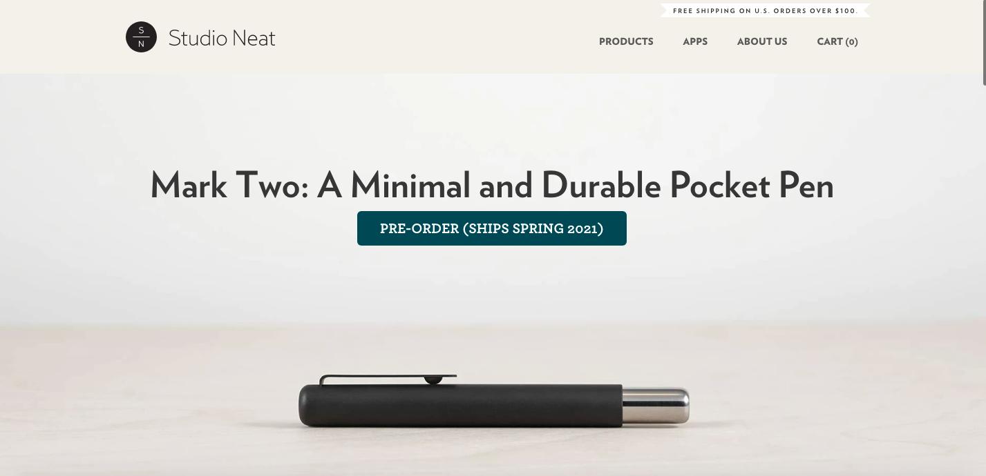 Studio Neat Shopify site
