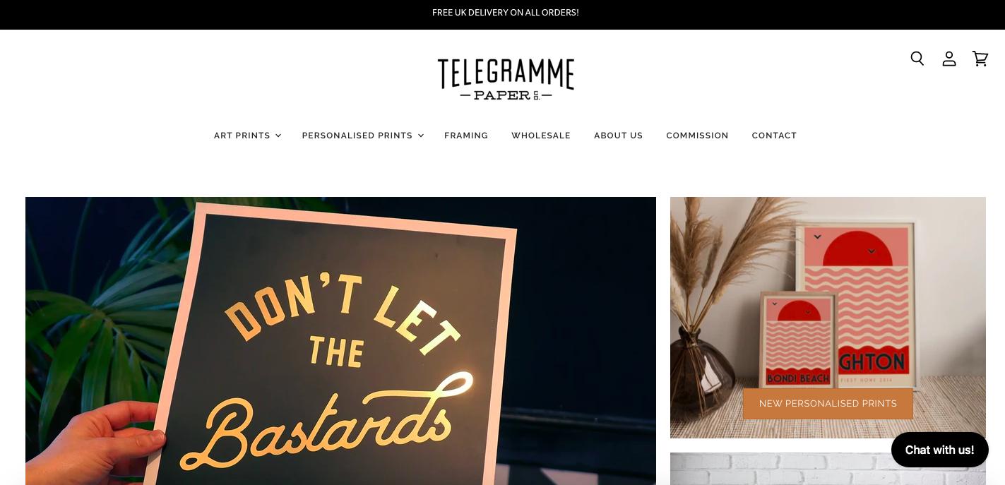 Telegramme Shopify site