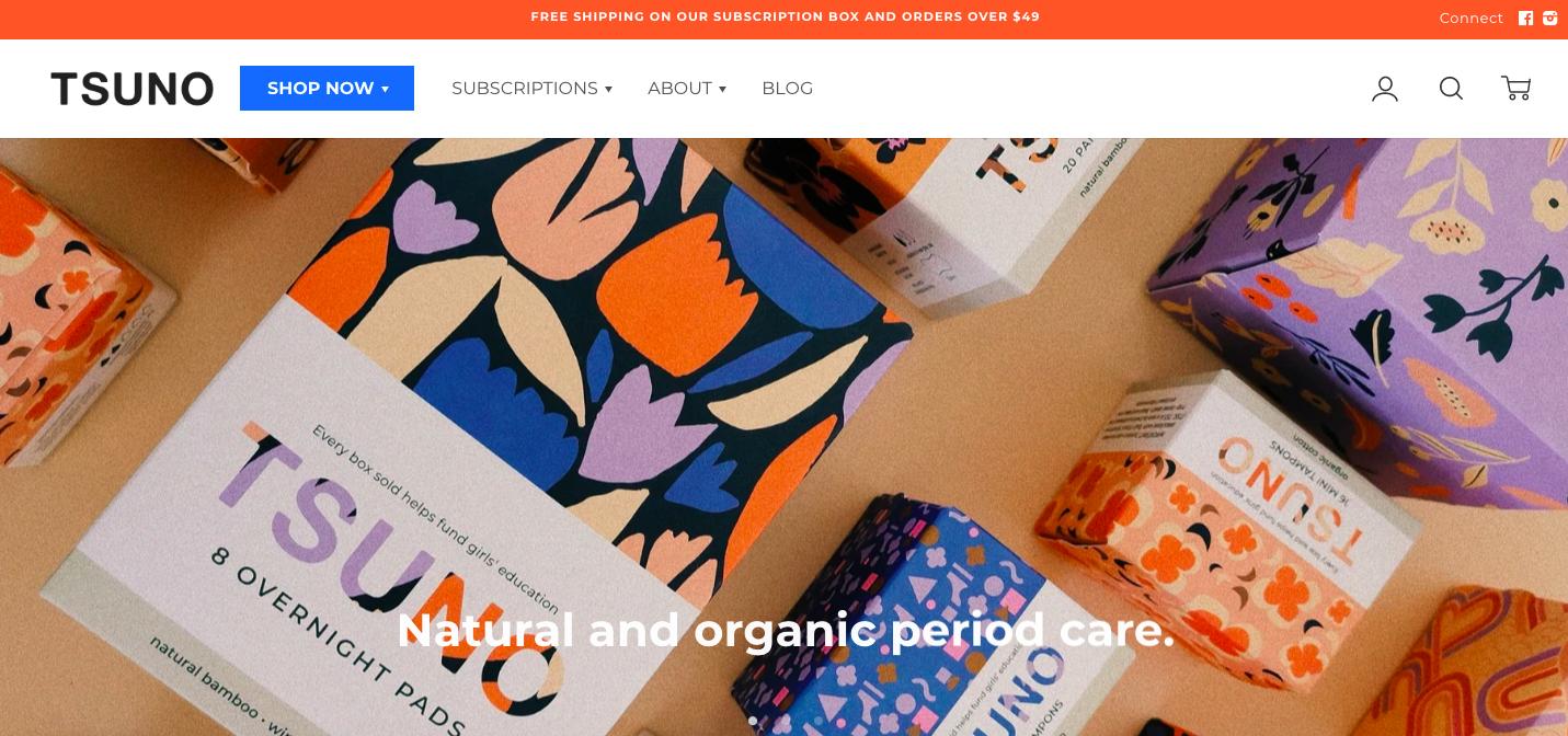 Tsuno Shopify site
