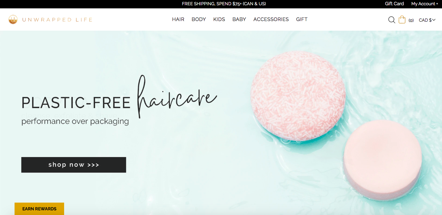 Unwrapped Life Shopify site