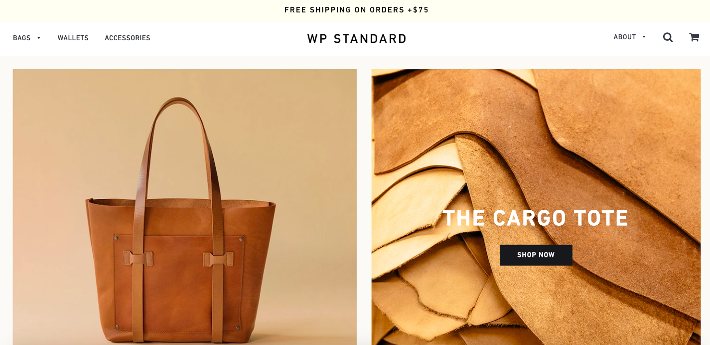 WP Standard Shopify site