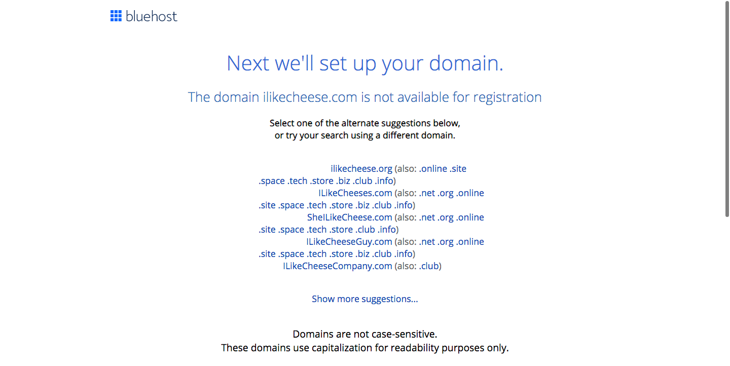 Set up domain