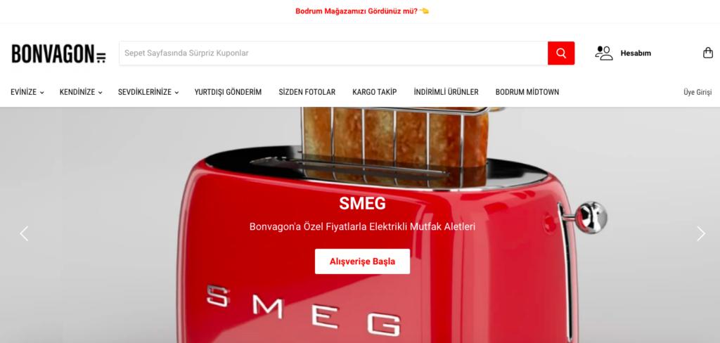 Bonvagon ecommerce website design